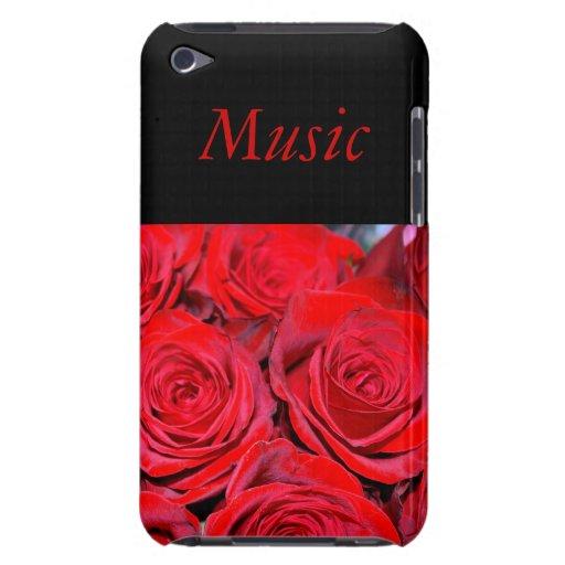 Roses rouges de musique étui barely there iPod