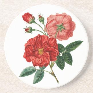 Roses Sandstone Drink Coaster