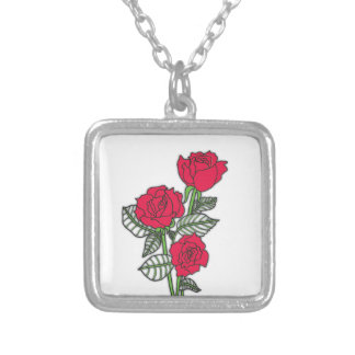 Roses Silver Plated Necklace