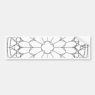 Roses Stained Glass Bumper Sticker