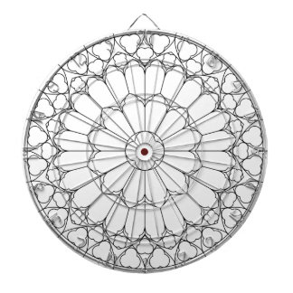 Roses Stained Glass Dartboard