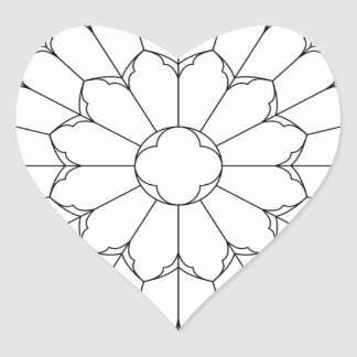 Roses Stained Glass Heart Sticker