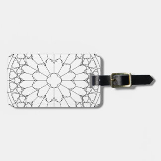 Roses Stained Glass Luggage Tag