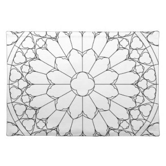 Roses Stained Glass Placemat