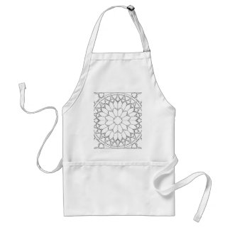 Roses Stained Glass Standard Apron