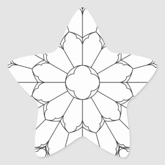 Roses Stained Glass Star Sticker
