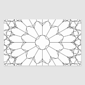 Roses Stained Glass Sticker