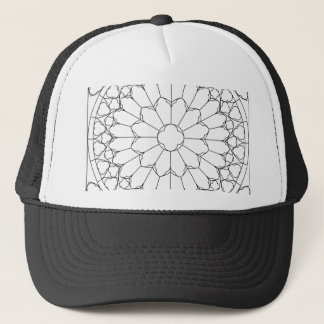 Roses Stained Glass Trucker Hat