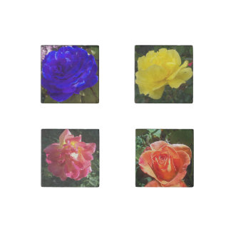 Roses Stone Magnets