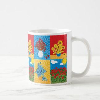 roses, Sunflowers, Irises, Big Poppy field, ros... Classic White Coffee Mug