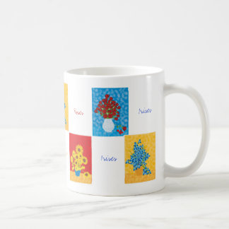 Roses, Sunflowers, Irises, Classic White Coffee Mug