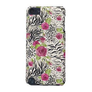 Roses sur le motif animal coque iPod touch 5G