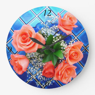 Roses Tile Clock