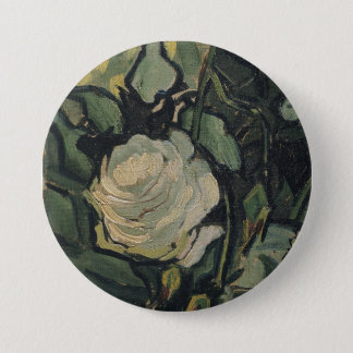 Roses Van Gogh ゴッホ, バラ, 3 Inch Round Button