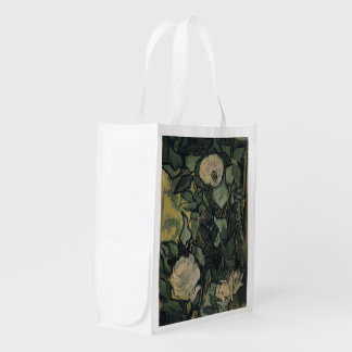 Roses Van Gogh ゴッホ, バラ, Grocery Bags