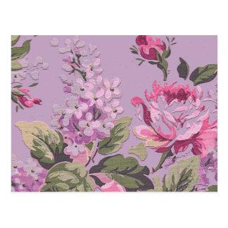 Roses victoriens vintages et lilas floraux cartes postales