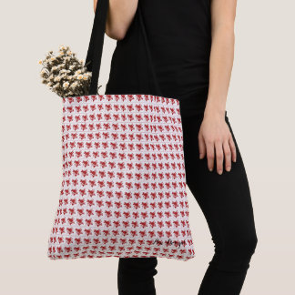 Roses-Vintage-Red-Cross-Over Tote Bag