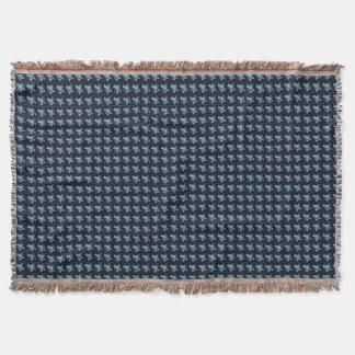 Roses-Vintage-Teal*Navy-Unisex Throw Blanket