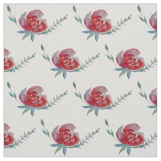 Roses Watercolor Fabric