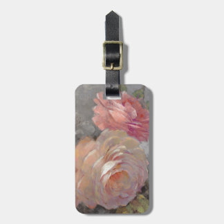 Roses with Gray Luggage Tag