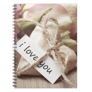 Roses Wooden Heart Heart Heart Shaped Love Mother Notebook