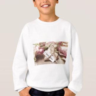 Roses Wooden Heart Heart Heart Shaped Love Mother Sweatshirt