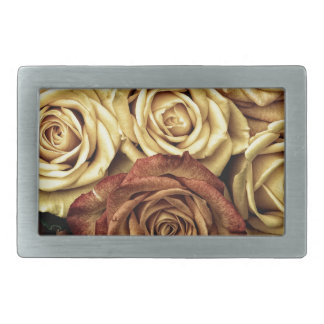Roses yellow and red belt buckle