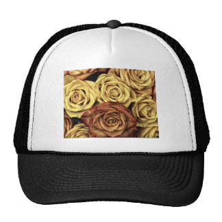 Roses yellow and red trucker hat