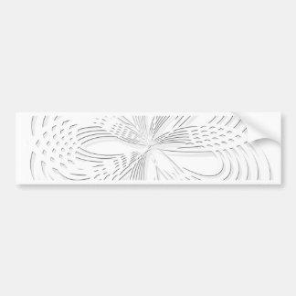 rosette circle design round mark bumper sticker