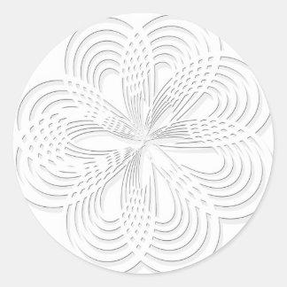 rosette circle design round mark classic round sticker