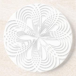 rosette circle design round mark coaster