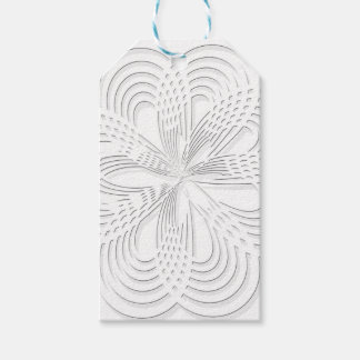 rosette circle design round mark gift tags