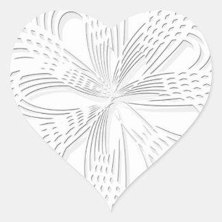 rosette circle design round mark heart sticker