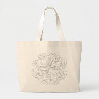 rosette circle design round mark large tote bag