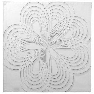 rosette circle design round mark napkin