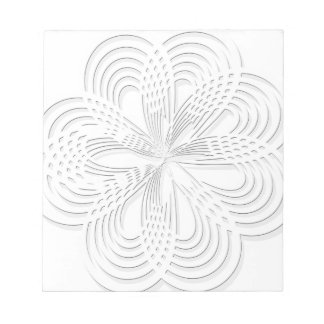 rosette circle design round mark notepad