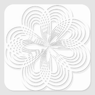 rosette circle design round mark square sticker