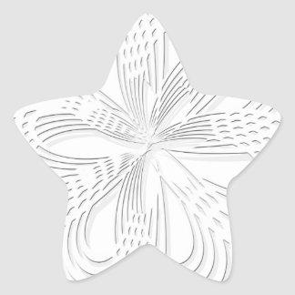 rosette circle design round mark star sticker