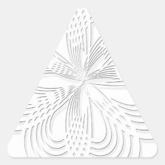 rosette circle design round mark triangle sticker