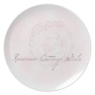 Rosevine Cottage Girls Cabbage Rose Plate