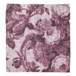 Rosewater Red Vintage Botanical Floral Toile No.4 Do-rags