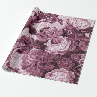 Rosewater Red Vintage Floral Toile Fabric No.4 Wrapping Paper