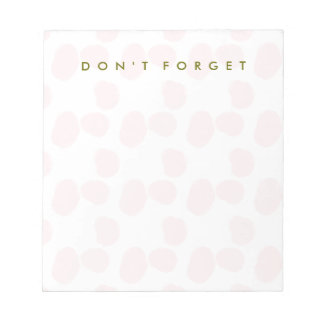 "Rosewater Smudges ""Don't Forget"" Notepads"