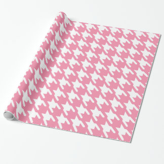 Rosey Cheeks Large Houndstooth Print Wrapping Paper