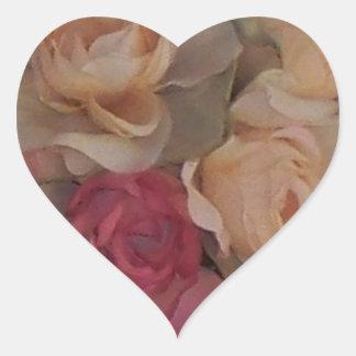 Rosey Heart Envelope Seal Heart Sticker