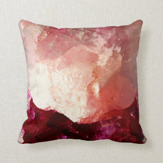Rosey Quartz Throw Pillow