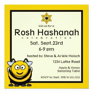 Rosh Hashanah Bee Star of David Card