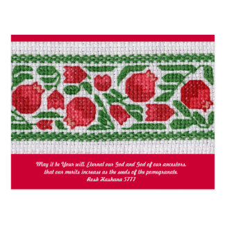 Rosh Hashanah card 5777 -- customizable Postcard