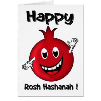 Rosh Hashanah, Happy Cartoon Pomegranate Card
