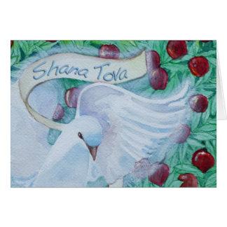 Rosh Hashanah Shana Tova Dove with Apples Card